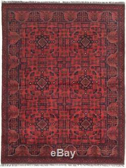 Hand-knotted Carpet 5'0 x 6'6 Traditional Vintage Wool Rug