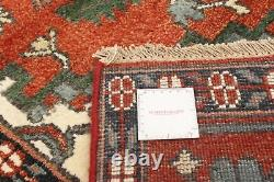 Hand-knotted Carpet 7'10 x 9'9 Bordered, Geometric, Traditional Wool Rug