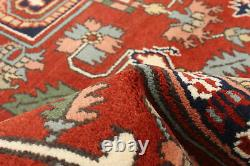 Hand-knotted Carpet 7'11 x 10'0 Bordered, Geometric, Traditional Wool Rug