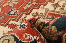 Hand-knotted Carpet 9'0 x 12'0 Bordered, Geometric, Traditional Wool Rug