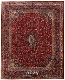 Hand-knotted Carpet 9'5 x 12'2 Traditional Vintage Wool Rug. DISCOUNTED