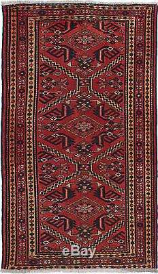 Hand-knotted Persian 3'6 x 6'1 Persian Vintage Traditional Wool Rug