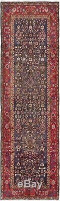 Hand-knotted Persian Carpet 3'10 x 12'10 Persian Vintage Traditional Wool Rug