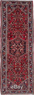 Hand-knotted Persian Carpet 3'4 x 10'2 Persian Vintage Traditional Wool Rug