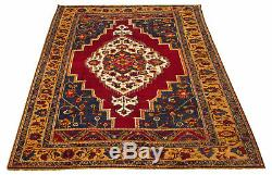 Hand-knotted Turkish 6'4 x 9'5 Anatolian Vintage Wool Rug. DISCOUNTED