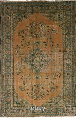 Hand-knotted Turkish Carpet 5'10 x 9'3 Anadol Vintage Wool Rug. DISCOUNTED