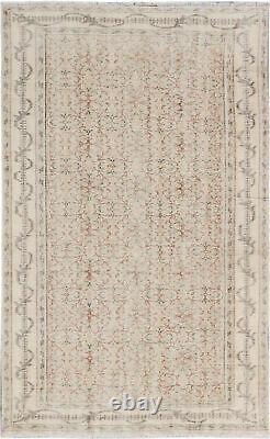 Hand-knotted Turkish Carpet 5'11 x 9'5 Keisari Vintage Traditional Wool Rug