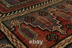 Hand-knotted Turkish Carpet 5'3 x 10'2 Anatolian Vintage Traditional Wool Rug