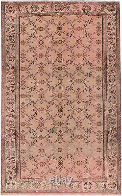 Hand-knotted Turkish Carpet 5'9 x 9'3 Keisari Vintage Traditional Wool Rug