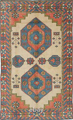 Hand-knotted Turkish Carpet 5'9 x 9'5 Antique Shiravan Traditional Wool Rug