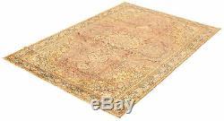 Hand-knotted Turkish Carpet 6'7 x 9'11 Keisari Vintage Traditional Wool Rug