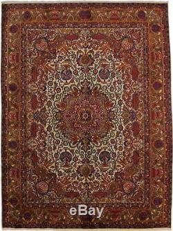 Hand-knotted Vintage Traditional 10X13 Persian Rug Oriental Home Décor Carpet