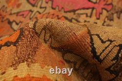 Hand woven Turkish Kilim 4'10 x 9'2 Konya Flat Weave Rug