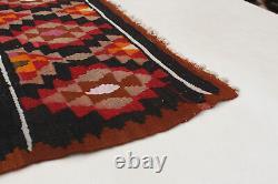 Hand woven Turkish Kilim 5'5 x 9'3 Bohemian Flat Weave Rug
