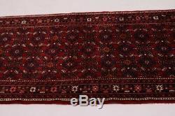 Handmade Vintage 3X17 Tribal Allover Persian Runner Oriental Hallway Rug Carpet