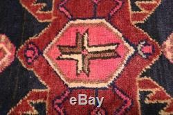 Handmade Vintage 5X14 Geometric Persian Runner Oriental Hallway Rug Carpet