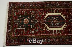 Handmade Vintage Geometric 2X10 Wool Persian Runner Oriental Hallway Rug Carpet