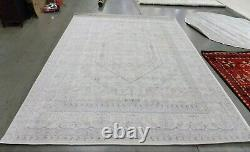 IVORY / SILVER 8' X 10' Stained Rug, Reduced Price 1172590713 ADR108B-8