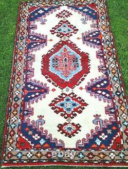LOVELY Colours Vintage WOOL PERSIAN ORIENTAL hand knotted RUG CARPET 160x95cm