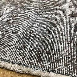 Large Taupe Persian Destressed Handmade Antique / Vintage Rugs 210x288cm Remade