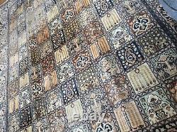Large huge antique/vintage rug carpet wool pers ian 176cm x 266cm silk on cotto