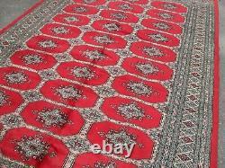 Large huge antique/vintage rug carpet wool pers ian bok-hara 186cm x 279cm