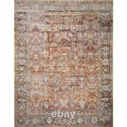 Loloi Layla 7'6 x 9'6 Rug in Spice and Marine