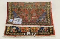 Lovely Small Tribal Vintage Hamedan Persian Rug Oriental Area Carpet Sale 2X3