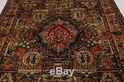 Magnificent Pictorial Unique Vintage Persian Wool Rug Oriental Area Carpet 10X13