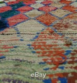 Moroccan Berber vintage runner rug 3x8 Boucherouite, tribal rugs Berber teppich