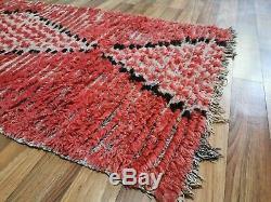 Moroccan Handmade Pink Runner Rug 2'8x7'7 Bohemian Berber Vintage Pagan Rugs