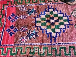 Moroccan Handmade Runner Rug Bohemian Berber Vintage Rug 3'3x11'8 Pagan Rugs