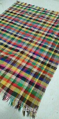 Moroccan Vintage Blanket 5x7 Azilal Berber Tribal Rug Morocco Traditional Carpet