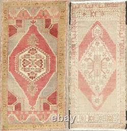 Muted Oushak Oriental Geometric Wool Area Rug Hand-Knotted Turkish Carpet 2 x 3