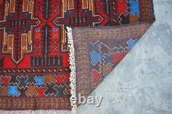 N493 Stunning Afghan Vintage Baluchi Decor Rug, Tribal Nomad Rug 3'7 x 6'9