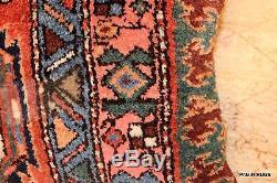 NOMAD RUG Vintage Handmade Pillow Antique Persian Bidjar Kurdish 17 X 19