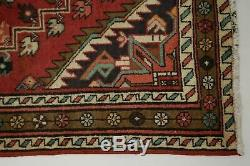 Nice Handmade Vintage Runner Hamedan Persian Wool Rug Oriental Area Carpet 3X10