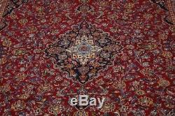 Nice S Antique Hand Knotted Plush Vintage Persian Rug Oriental Area Carpet 10X13