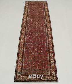 Nice S Antique Vintage Runner Hamedan Persian Rug Oriental Area Carpet 3'6X13'3