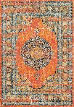 NuLOOM Olivia Persian Vintage Area Rug 8' x 10' Orange