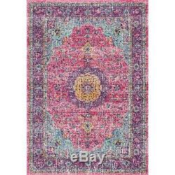 NuLOOM Traditional Oriental Distressed Area Rug in Pink 4.5 Star Amazon Review