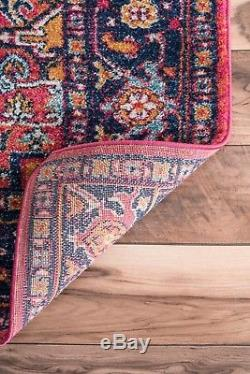 NuLOOM Traditional Vintage Bohemian Area Rug in Pink Purple Orange Multi