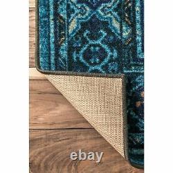 NuLOOM Traditional Vintage Distressed Tribal Lavonna Blue Area Rug