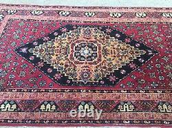 Old Azeri USSR Rug, country home Tribal Boho vintage 200x120cm Persian Turkish