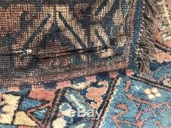 Old Persian Rug Vintage Carpet