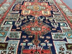 On Sale Hand Knotted Hamedan Vintage Tribal Area Rug Geometric 42x65, #2604