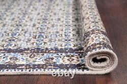 One-of-a-Kind All-Over Floral Mood Oriental Hand-Knotted Ivory 7'x11' Area Rug