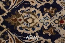 One of a Kind Navy Blue Vintage Persian Rug Oriental Handmade Area Carpet 5X7