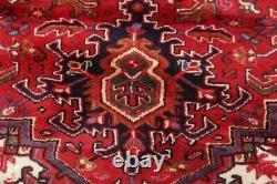 One-of-a-Kind Vegetable Dye Geometric Heriz Serapi Area Rug Oriental Wool 10x12