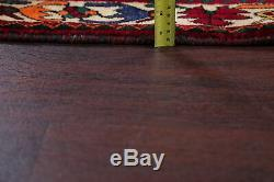 One-of-a-Kind Vintage Tribal Abadeh Nafar Persian Hand-Knotted 4x6 Red Wool Rug